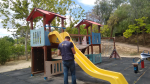 Which are the playground equipment hazards and how to inspect them